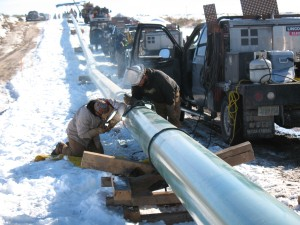 Pipelining in the snow!
